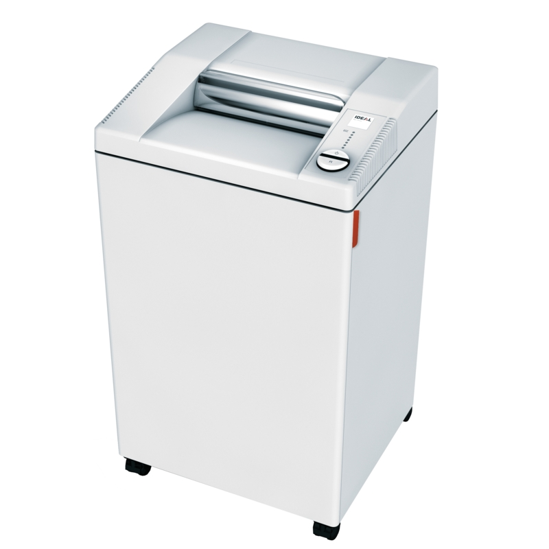 IDEAL SHREDDER 3104 CC 4 X 40 MM SECURITY LEVEL P-4 21-23 SHEETS 80 GSM PAPER 120 LITRE WASTE BIN